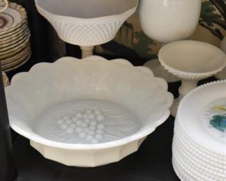 White Milk Glass Dish