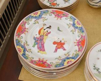 Chinese Porcelain Dinner Plates