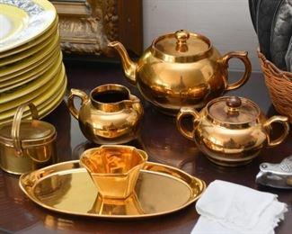 Gold Tone Tea Set