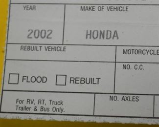 Car - 2002 Honda Accord with 51,754 miles