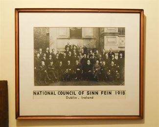 Antique Framed Photography - 1918 - Dublin Ireland, National Council of Sinn Fein