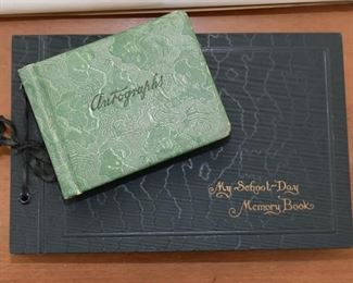 Vintage Autograph & Memory Books / Scrapbooks