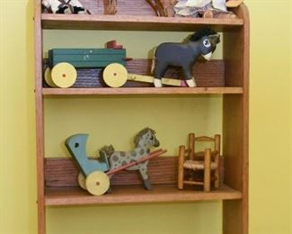 Wooden Wall Display shelf, Wooden Toys, Figurines, Miniatures, Etc.