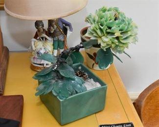 Jade Flower Sculpture / Statue