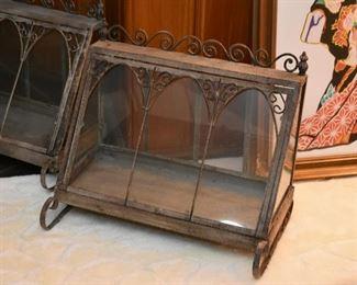 Vintage Metal & Iron Terrarium (there are 2 of these)