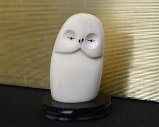 Owl Figurine - Bone Carving