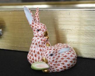 Herend Rabbits Figurine