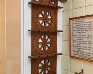 Vintage Wood Spoon Rack