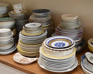 Vintage China (lots of individual pieces - plates, teacups, platters, etc.)
