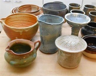 Studio Pottery - Creamers, Pitchers, Vases, Etc.