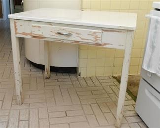 Vintage Kitchen Table / Work Station with Drawer