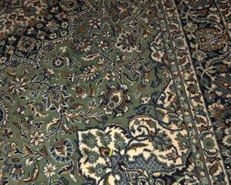 Large area wool rug