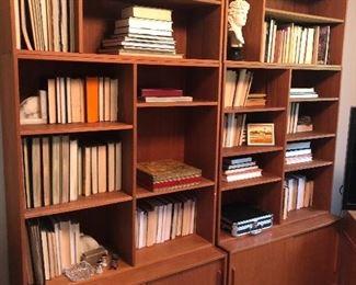 Teak mid-century bookcases - set of 2