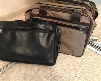 Luggage and leather briefcase