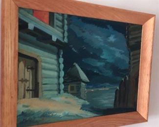 acrylic  - framed