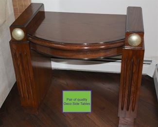 Pair of Quality Deco Side Tables