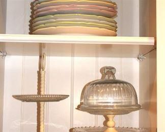 Cake Plates, Candy Dish and Dessert Dish Set