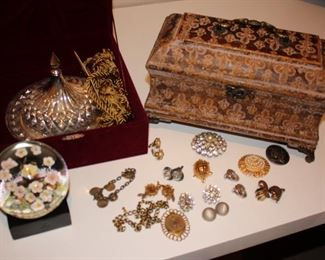 Jewelry and Box, Paper Weight and more