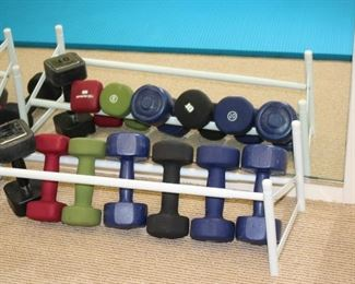 Dumbbells  and Rack