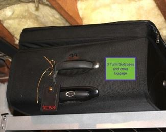 3 Tumi Suitcases and others