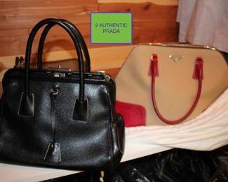2 Authentic Prada Handbags