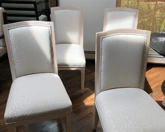 4 Light Upholstered Chairs