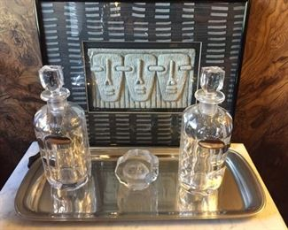 Beautiful collection of barware.