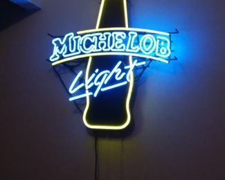 Michelob Light neon bar light