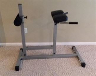Abdominal workout machine, like new.