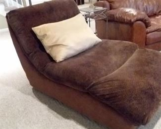 Animal print chaise lounger..so comfy!