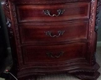 Matching A.R.T Furniture 6 drawer dresser combined with 4 door armoire, chest of drawers and 2 night stands - Excellent condition.