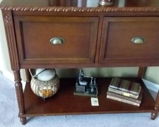 Wood side table/file cabinet