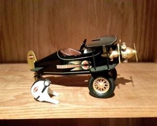 Harley Davidson model airplane.