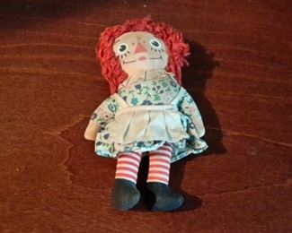 Small original Raggedy Ann doll.