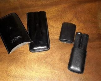 Real leather cigar holders (2).