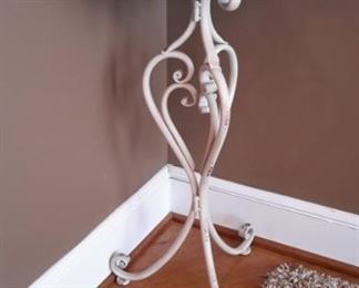 Pretty wrought iron plant stand.