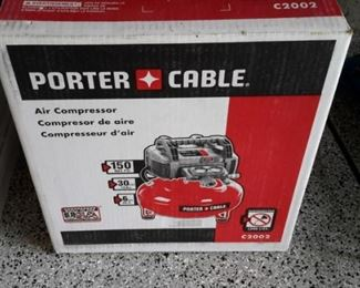 Porter Cable Air Compressor, in box.