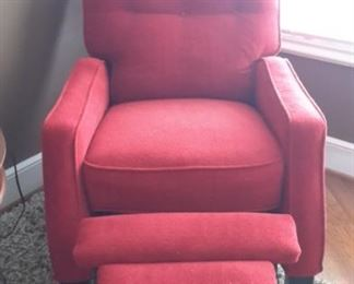 Pretty red recliner