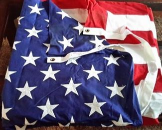 Beautiful, new, embroidered 5X8 American Flag.