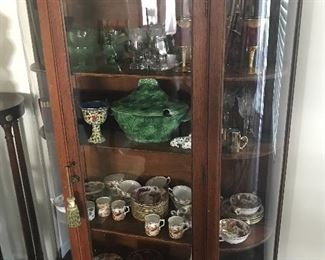 1 OF 2 CHINA/DISPLAY CABINETS