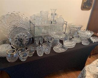Large collection Fostoria glassware