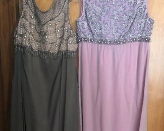 Vintage beaded evening gowns