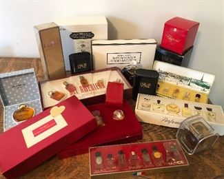 Large collection miniature perfumes and boxed sets