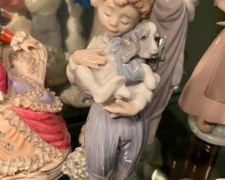 Child with dog Lladro figurine