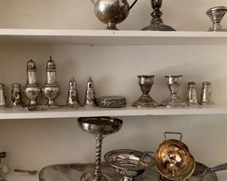 Sterling and silverplate table wear and serving pieces