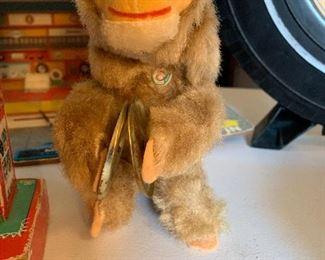 Mechanical monkey vintage toy