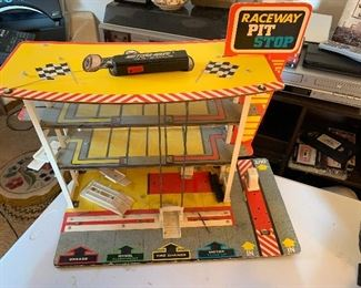 Raceway Pit Stop vintage toy