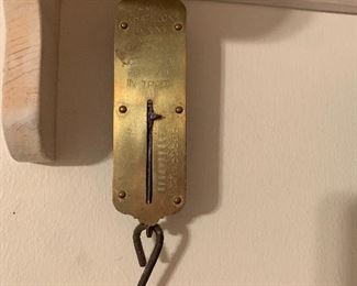 Small brass hanging scale