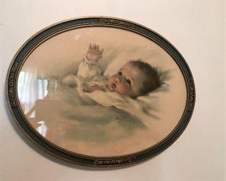 Framed baby print