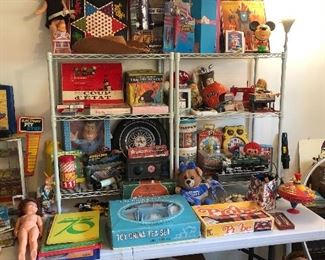 Large vintage toy and doll collection